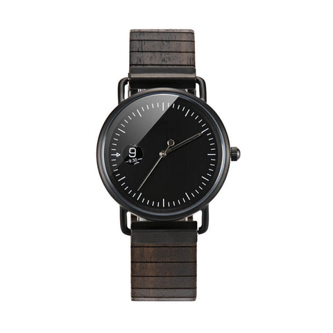 Mexican black King snake wood watch2