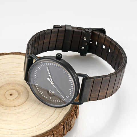 Mexican black King snake wood watch3