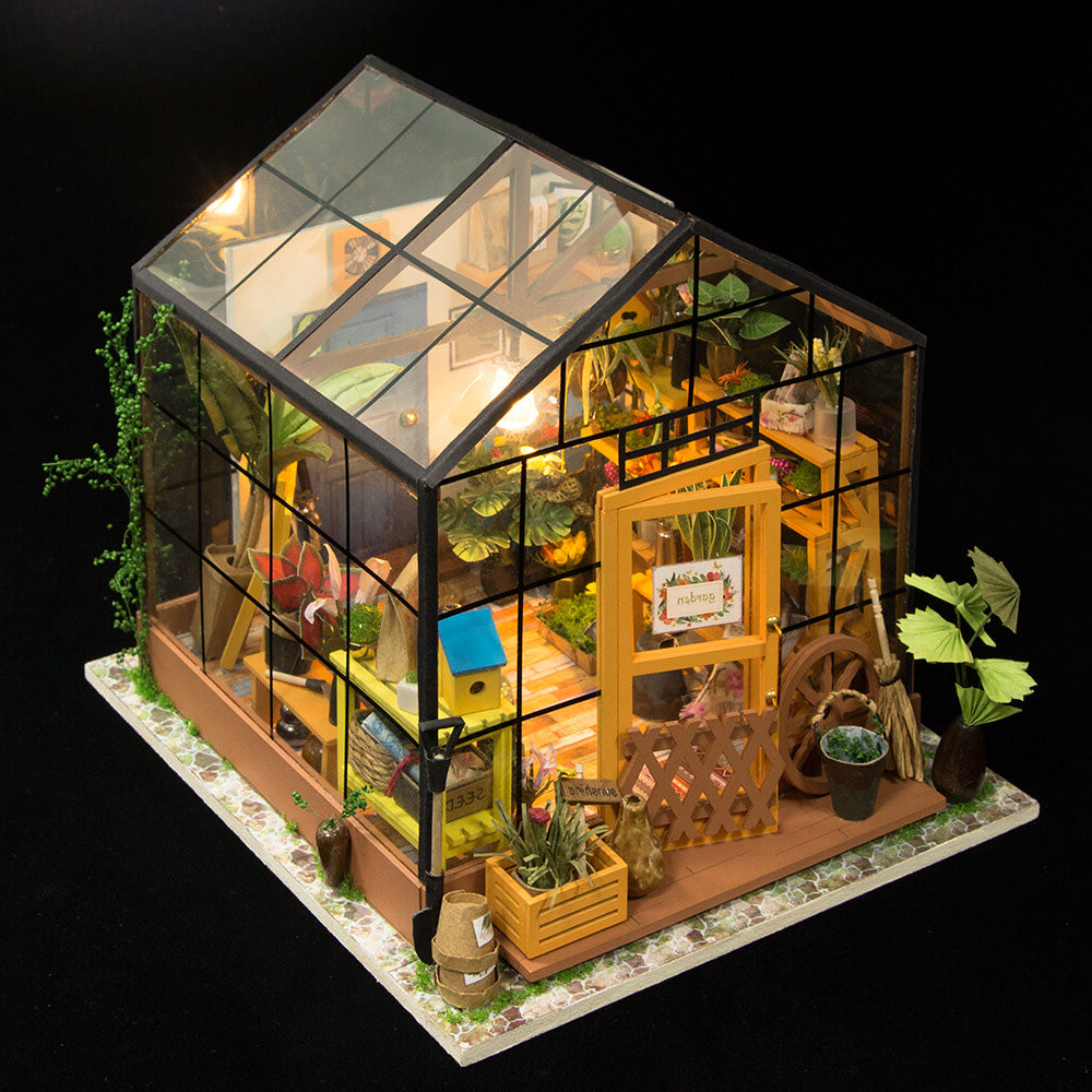 Miniature Doll House DIY Kathy's Green Garden with Furniture