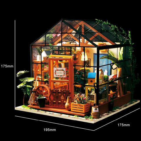 Image of Miniature Doll House DIY Kathy's Green Garden with Furniture