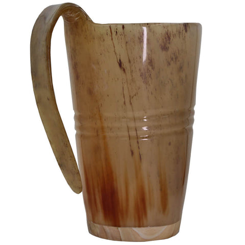 Natural Hand Made Finish Drinking Horn Tankard Ox Buffalo Horn