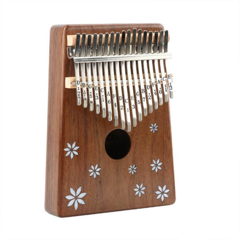 New 17 Key Kalimba Instrument African Solid Acacia(Flower)