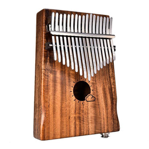 New 17 Keys EQ kalimba Solid Acacia Link Speaker Electric Pickup with Bag Cable