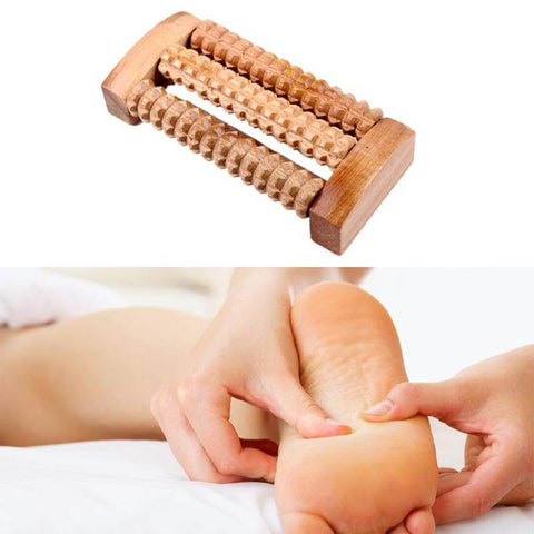 Image of New Wooden Foot Roller Reflexology Relax Relief Massager(Spa Gift)