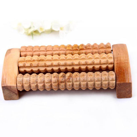 New Wooden Foot Roller Reflexology Relax Relief Massager(Spa Gift)