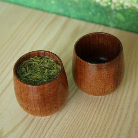 Image of Primitive Handmade Spruce Wood Wooden Mugs 8 x 6 cm