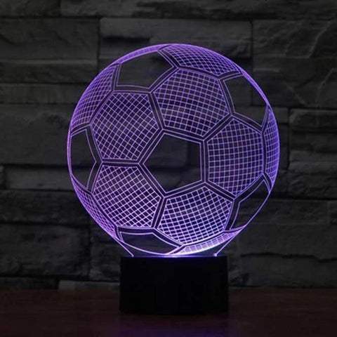 Image of Soccer 3D LED Illusion Lamp