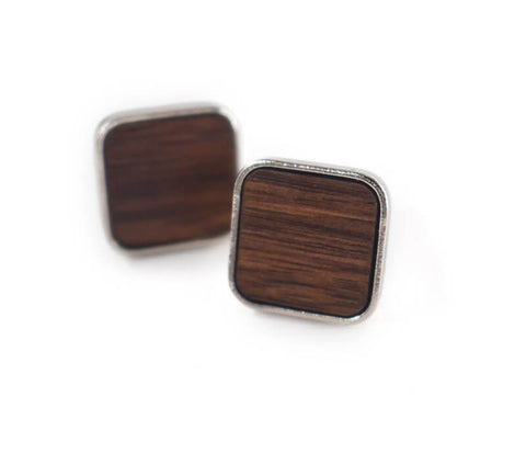 Trendy Wooden Cufflinks (Black walnut)