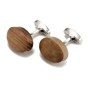 Luxury Walnut Wood Cufflinks Gift