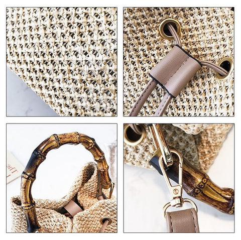 Image of Summer Bamboo Hand-woven Leisure Messenger Bag