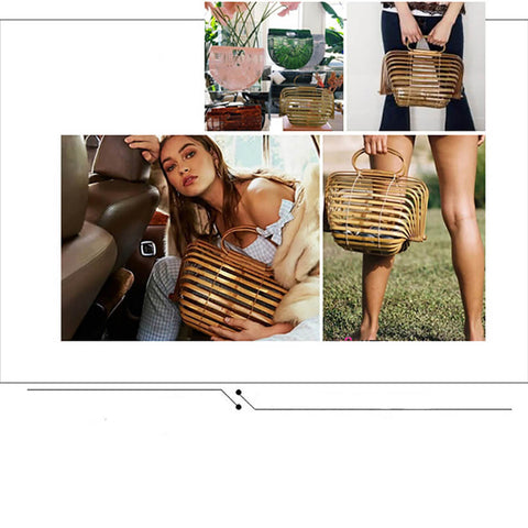 Image of Summer Hollow Out Tote Foldable Bag