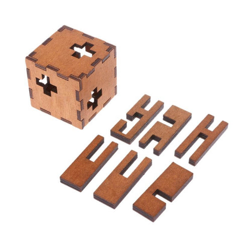 Image of Switzerland Cube Wooden Secret Puzzle Box