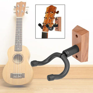 Universal Wood Guitar Hanger Wall-Mount Display Stand Adjustable Durable Violin Holder Musical Instrument Sponge Short Hook  Hot