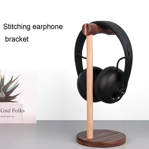 Image of Universal Wooden Headphone Holder with Non-slip