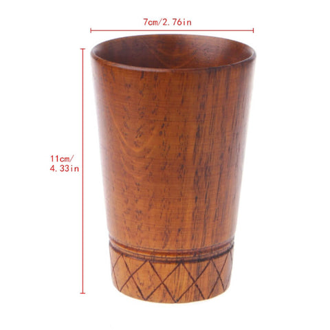 Image of Vintage Handmade Wooden Tea Drinking Cup