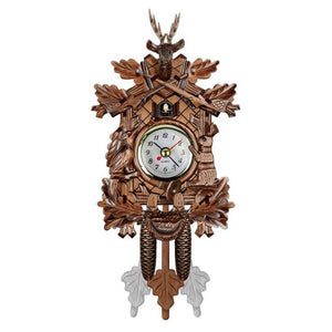 Vintage Home Decorative Bird Wall Clock Hanging Wood Cuckoo Clock