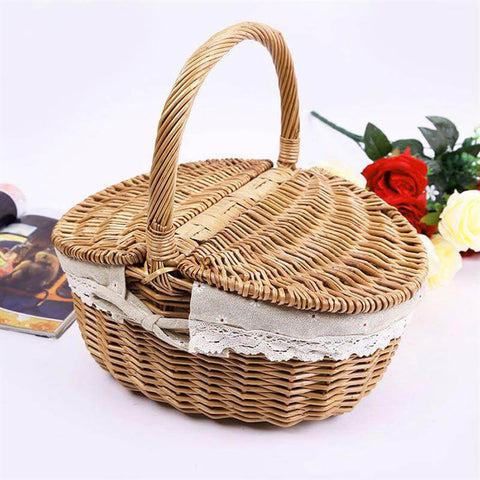 Image of Wicker Picnic Basket