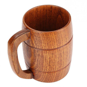 Wooden Beer Mug with Handgrip