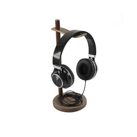 Image of Wooden Headphone Holder (Walnut/Mapple)