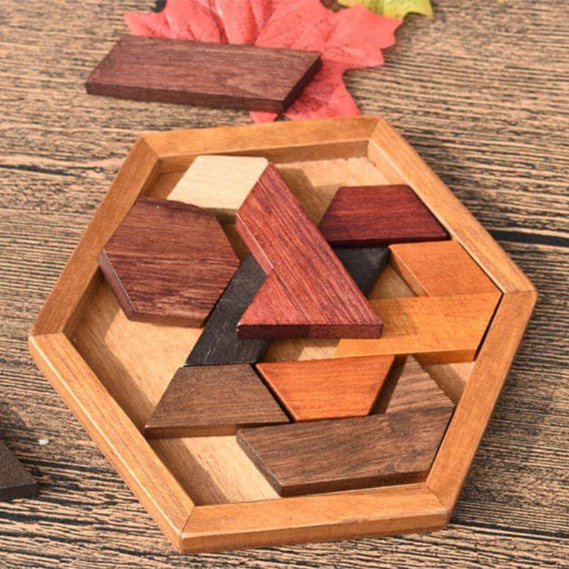 Wooden Puzzles Toys Jigsaw Board Geometric Shape