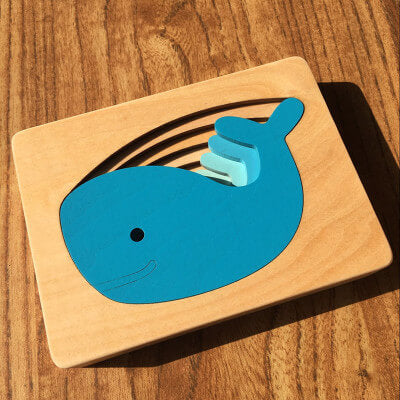 Wooden Toys Animal Carton 3D Puzzle Multilayer Jigsaw Puzzle
