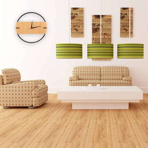 Image of Silent Modern Wooden Wall Clocks