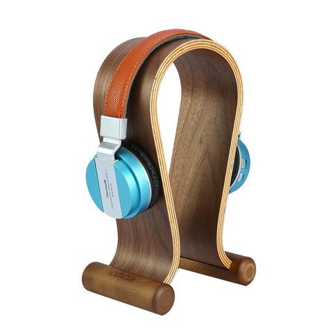 Image of Wooden Walnut Headphone Stand
