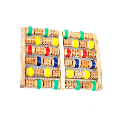 Wooden 6 round massage quality roller foot massage fitness care gift