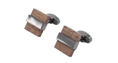 Men's Square Wooden Cufflinks