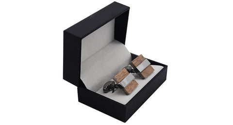 Wooden Cufflinks with Box