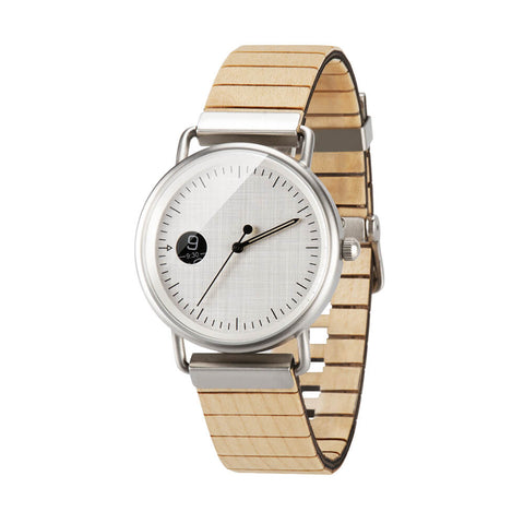 Image of polar bear wood watch 1