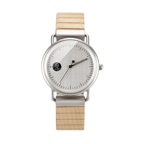 Image of polar bear wood watch 2