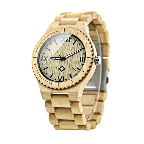 Image of polar bear wood watch 4