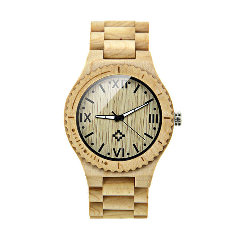 Image of polar bear wood watch 5