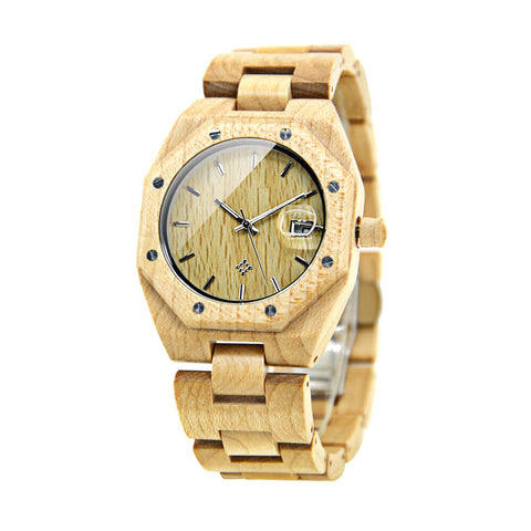 Image of polar bear wood watch 6