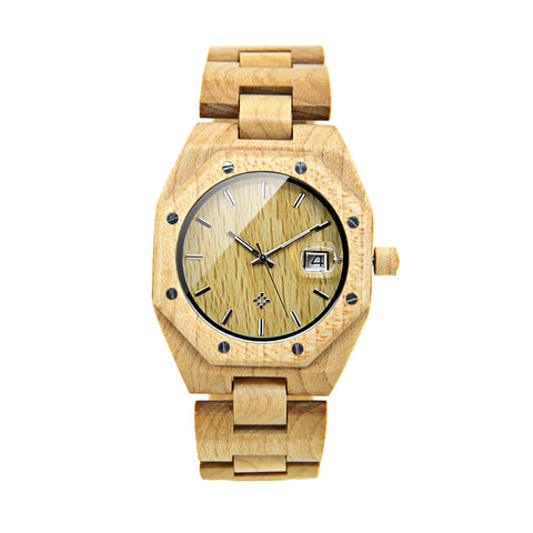 Image of polar bear wood watch 7