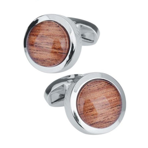 Image of Round Glass Cufflinks for Mens Shirt Cuff buttons
