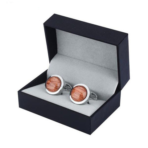 Round Glass Cufflinks for Mens Shirt Cuff buttons