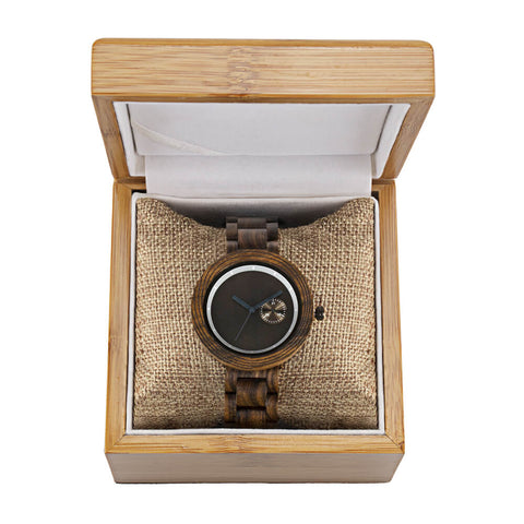 Image of red panda wood watch4