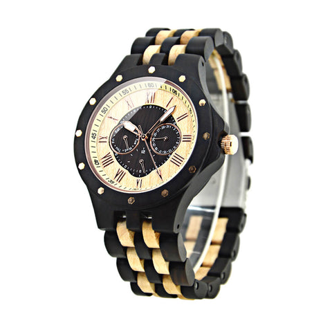 Image of zebra wood watch 1