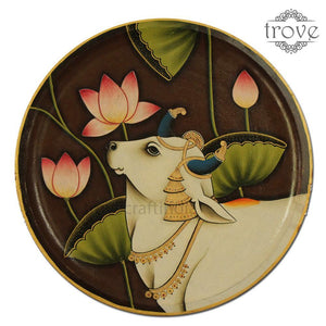 "14"" Half Cow Decor Plate (Made-to-Order)"