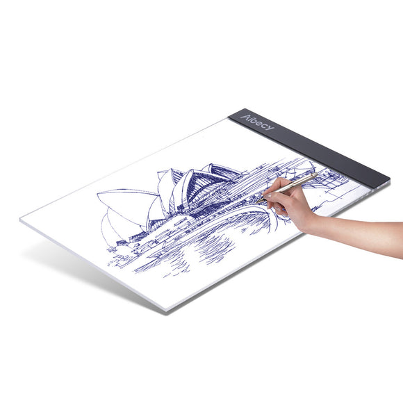 Aibecy Portable A4 LED Light Box Tracing Copy Board for Artist Animation Sketching Architecture Calligraphy Stenciling Diamond Painting