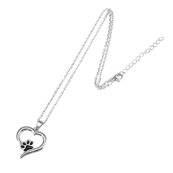 Pet Puppy Necklace Heart-shaped Pendant Pet Cat Dog Necklace