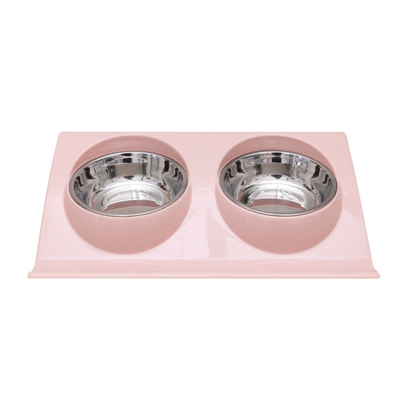 Double Stainless Steel Food and Water Bowls