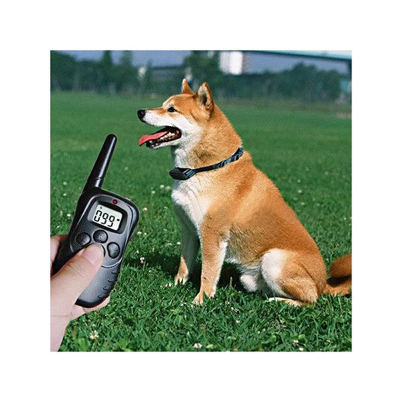 998D 300 Meters Range Remote Pet Training Shock Collar with LCD Display for 2 Dogs (Black)