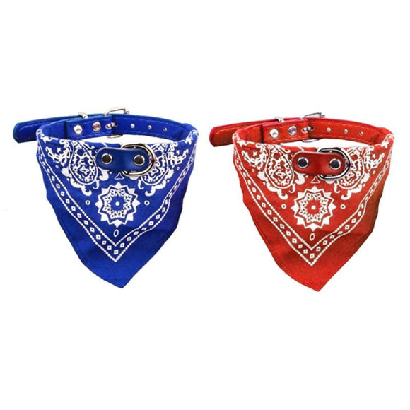Puppy Dog Collar Adjustable Dog Triangular Bandage PU Saliva Towel Scarf for Pet Supplies Accessories Grooming Products