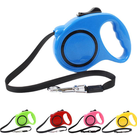 2016 5 Colors 3M Automatic Retractable Adjustable Pet Dog Leash Extending Puppy Walking Leads ABS Material for Dogs Cats