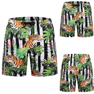 Men Casual 3D Graffiti Printed Beach Work Casual Men Short Trouser Shorts Pants