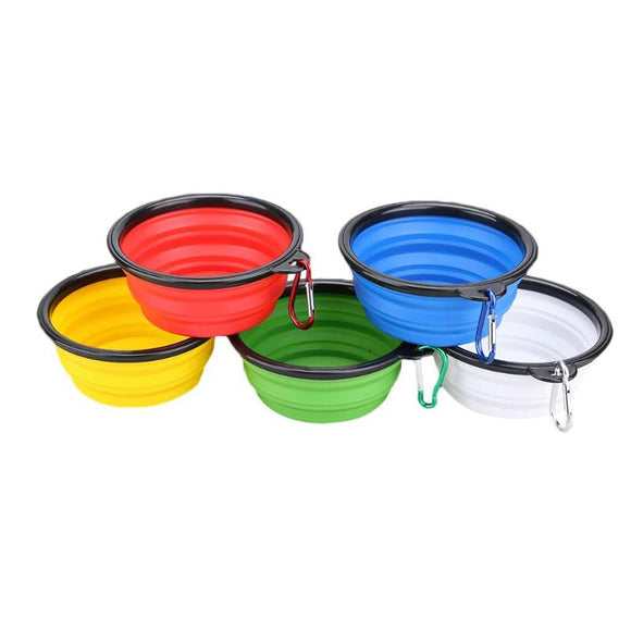 Transer Travel Pets Bowl adjustable solid Silicone Collapsible Pets Bowl Food Water Feeding Free Foldable Cup Dish for Dogs cat