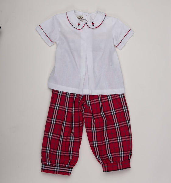 Hendrix Red Plaid Toy Soldier Pants Set